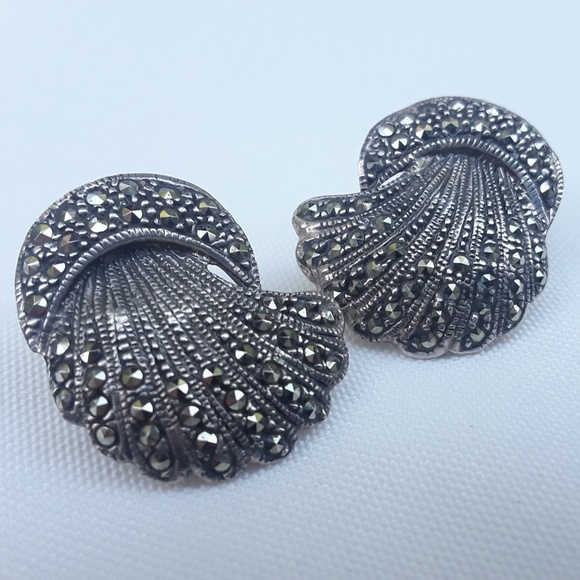 affd468d1 Jewelry | Vintage Sterling Silver Marcasite Earrings | Poshmark